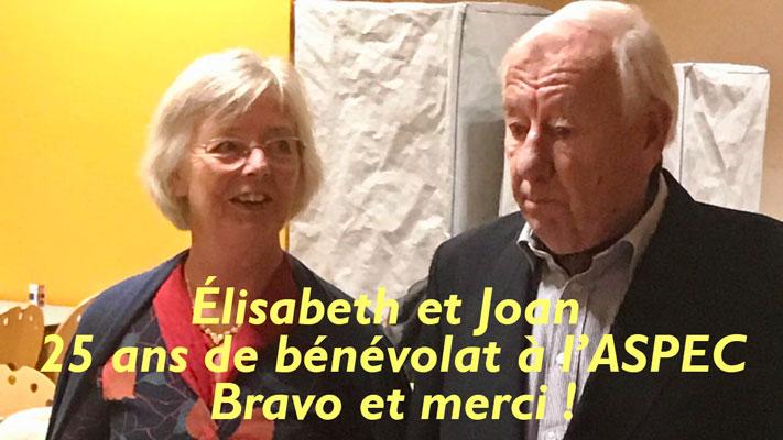 Plus de 20 ans de bénévolat en Soins Palliatifs : Élisabeth et Joan, bravo et merci !